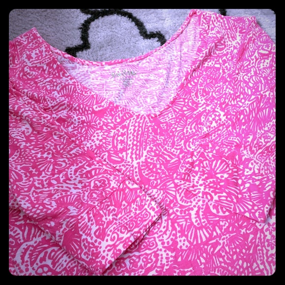 Lilly Pulitzer Dresses & Skirts - Lilly Pulitzer Cotton 3/4 Sleeve Dress